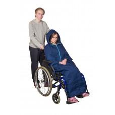 Lämpöviitta pyörätuolia käyttävälle / pyörätuoliviitta